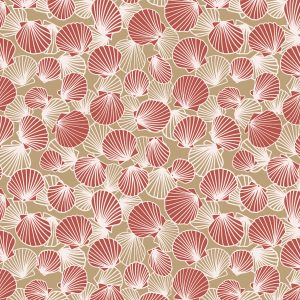 Chilly Scallop Pile fabric design from Cape Cod Winter Chilly Collection / Christine Martell