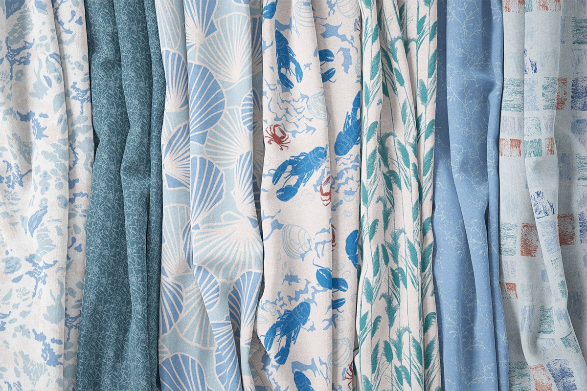 Cape Cod Winter Fabric Collection Winter Icy Color-way⎥Christine Martell