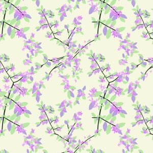 Chilled Honeysuckle fabric design from Cape Cod Spring Chilled Collection / Christine Martell