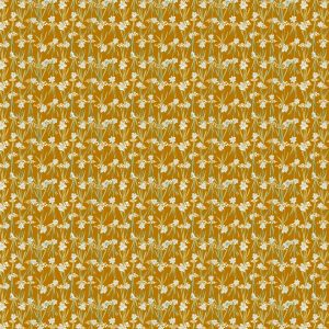 Warming Daffodils fabric design from Cape Cod Spring Warming Collection / Christine Martell