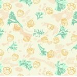 Warming Shore Walk fabric design from Cape Cod Spring Warming Collection / Christine Martell