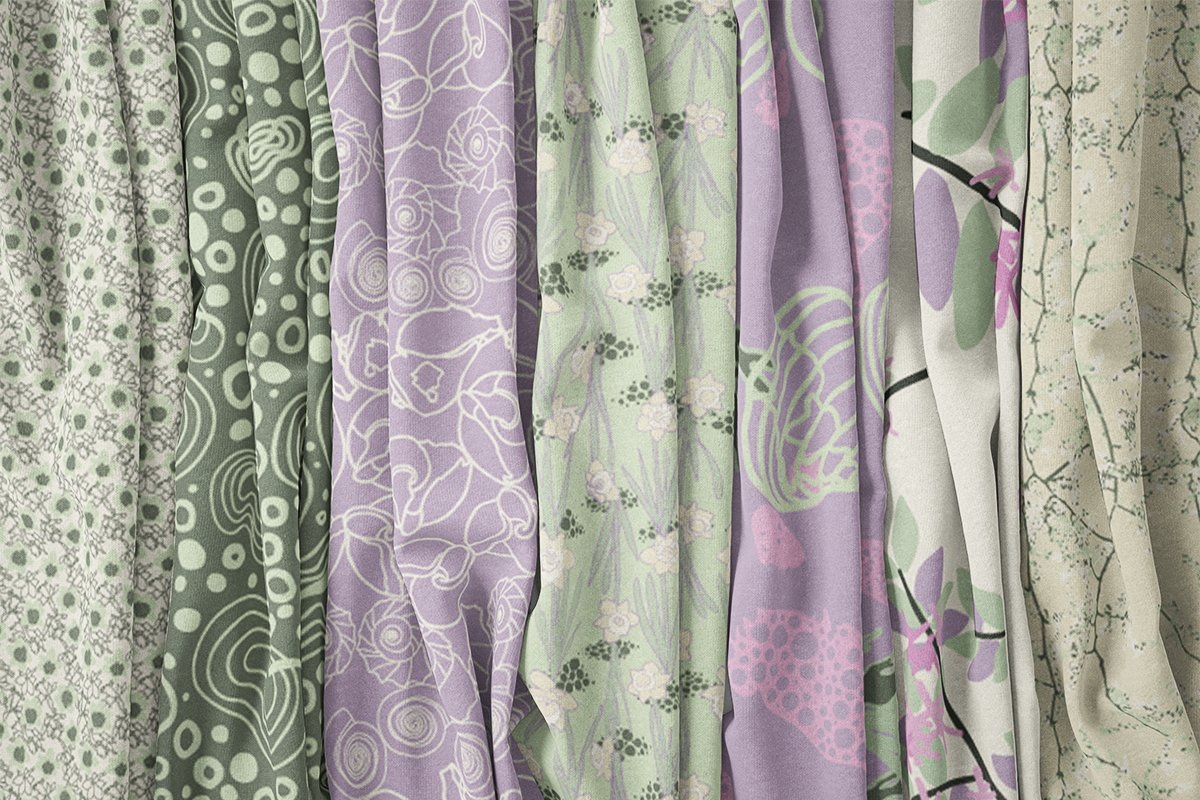 Cape Cod Spring Fabric Collection Spring Chilled Colorway⎥Christine Martell