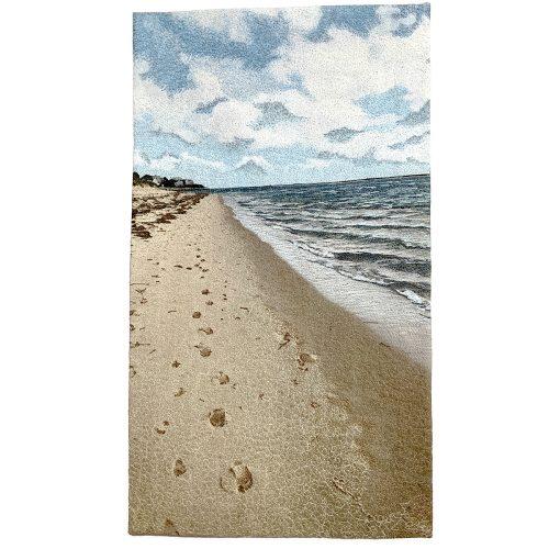 Chatham Light beach fiberart